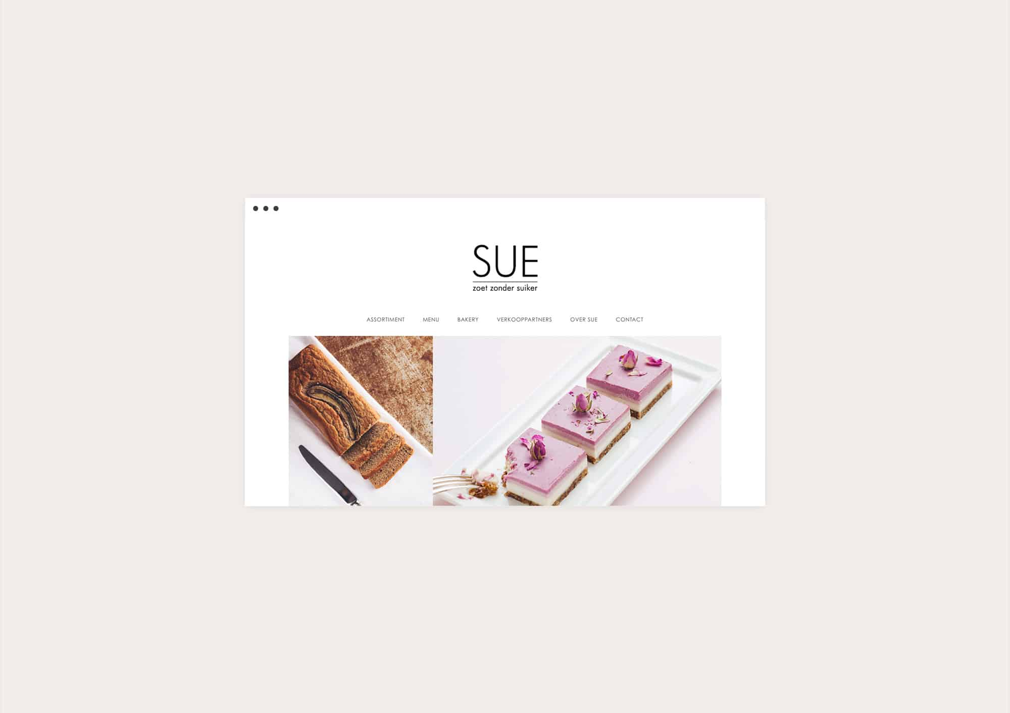 Design website for SUE Food Rotterdam