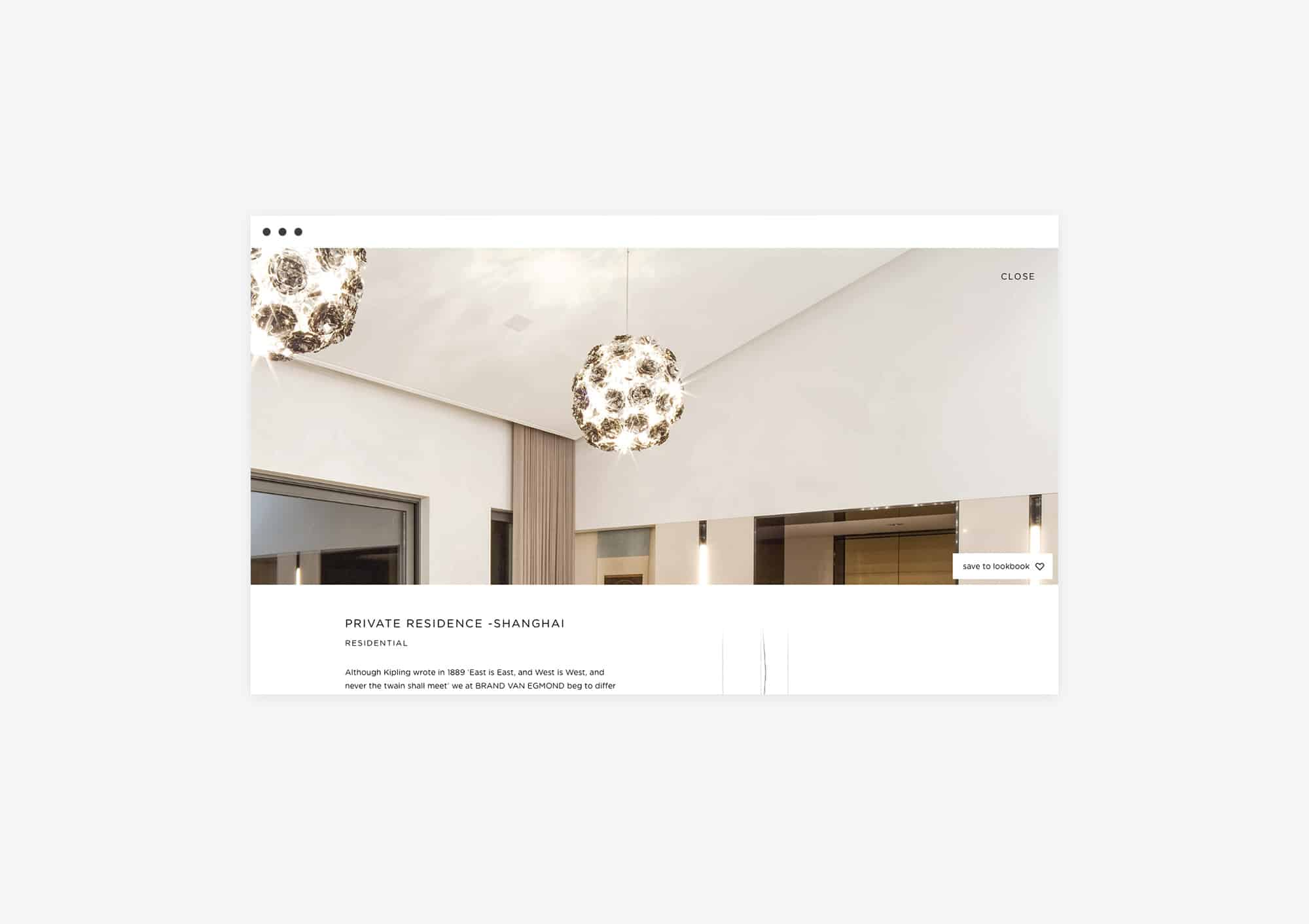 Project page design website for Brand van Egmond