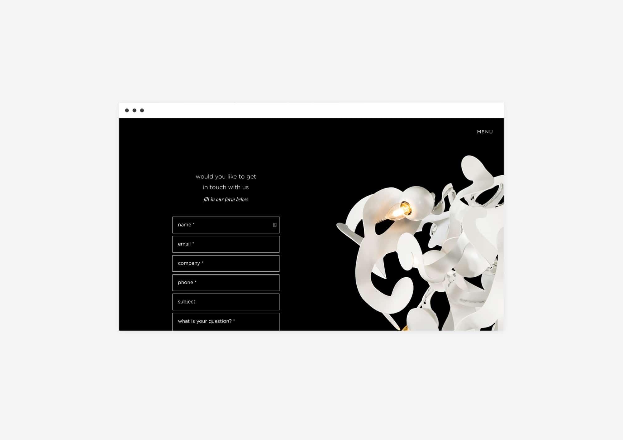 UX Design website for Brand van Egmond