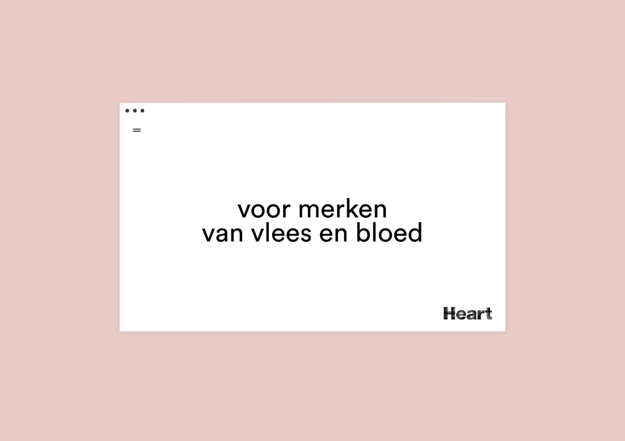 Homepage design website for Heart Rotterdam