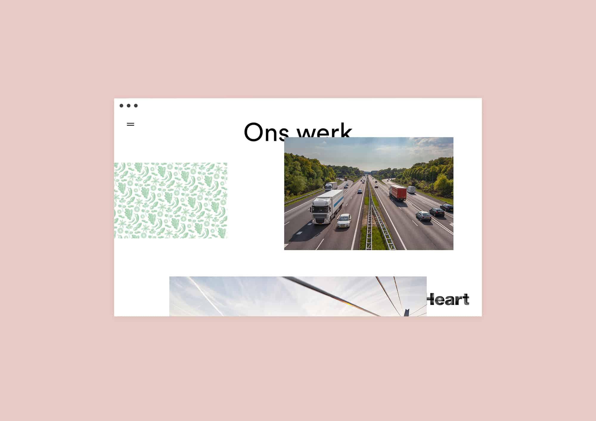 Portfolio page design website for Heart Rotterdam