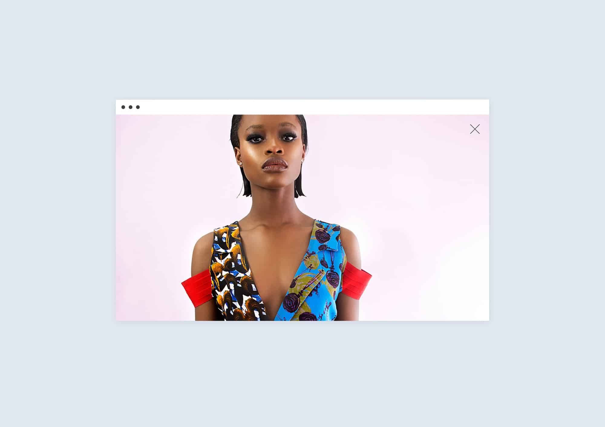 Zoom function design website for Lisa Folawiyo