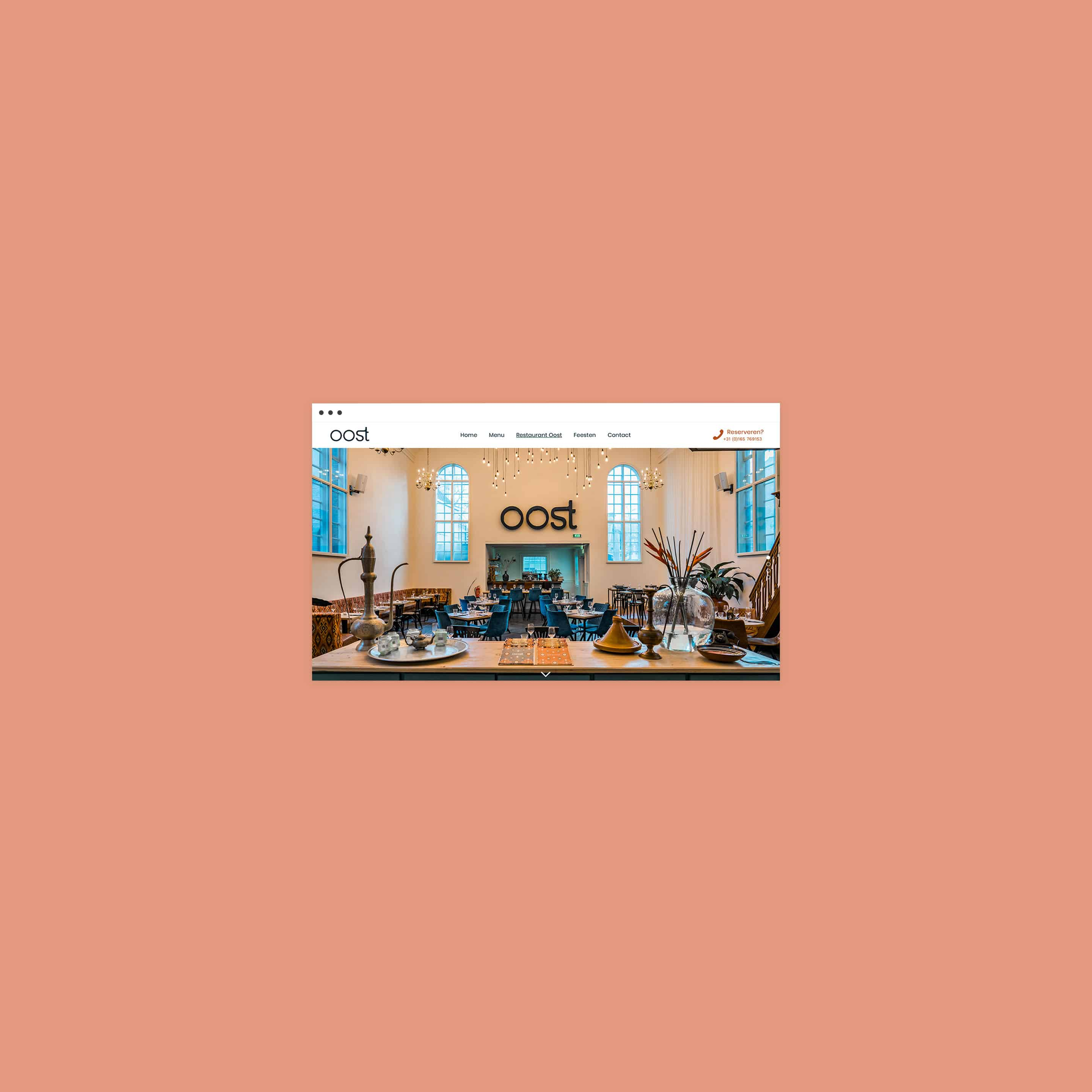 Branding and website for Restaurant Oost