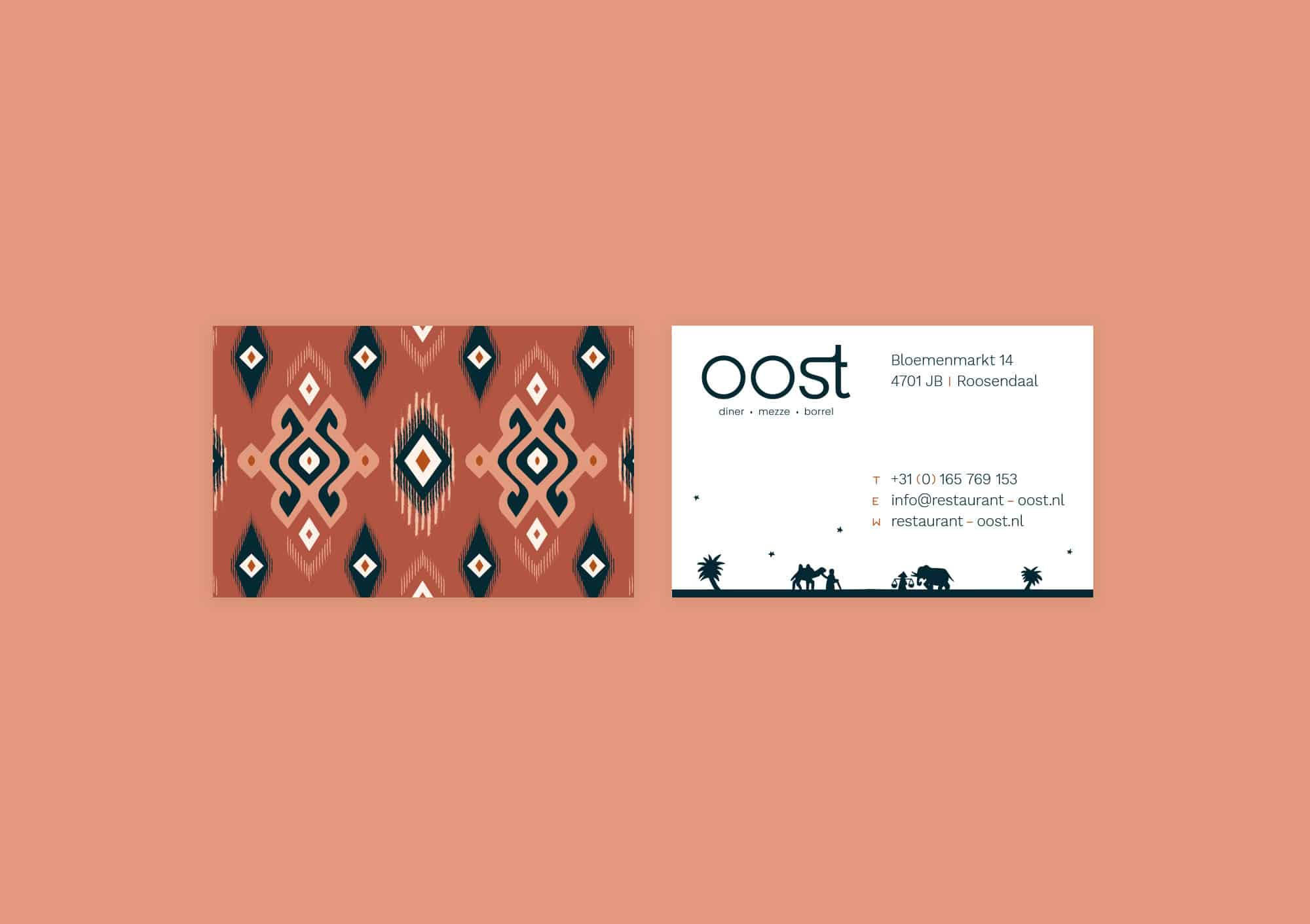 Design business cards for Restaurant Oost