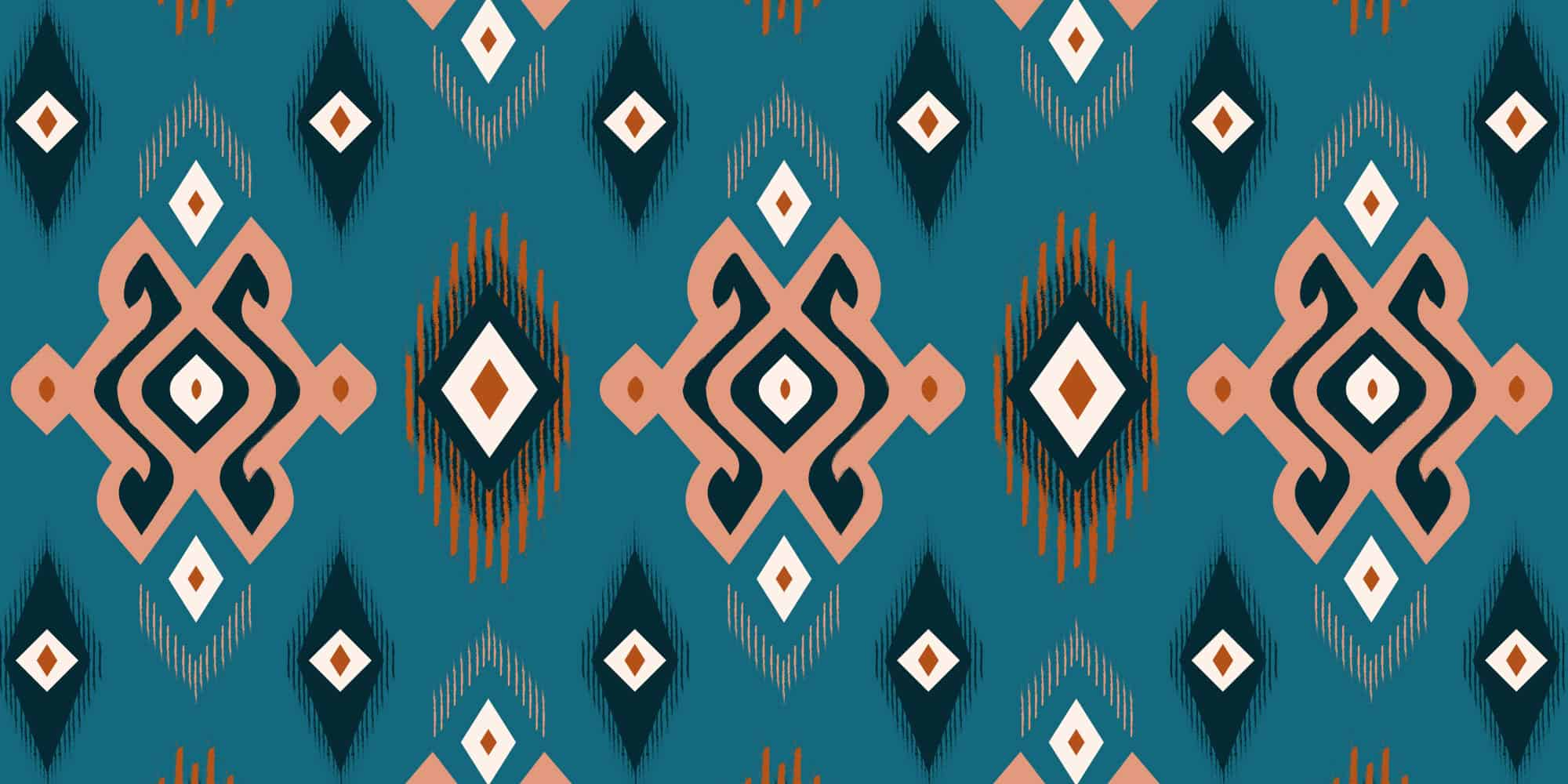 Custom pattern illustration design for Restaurant Oost