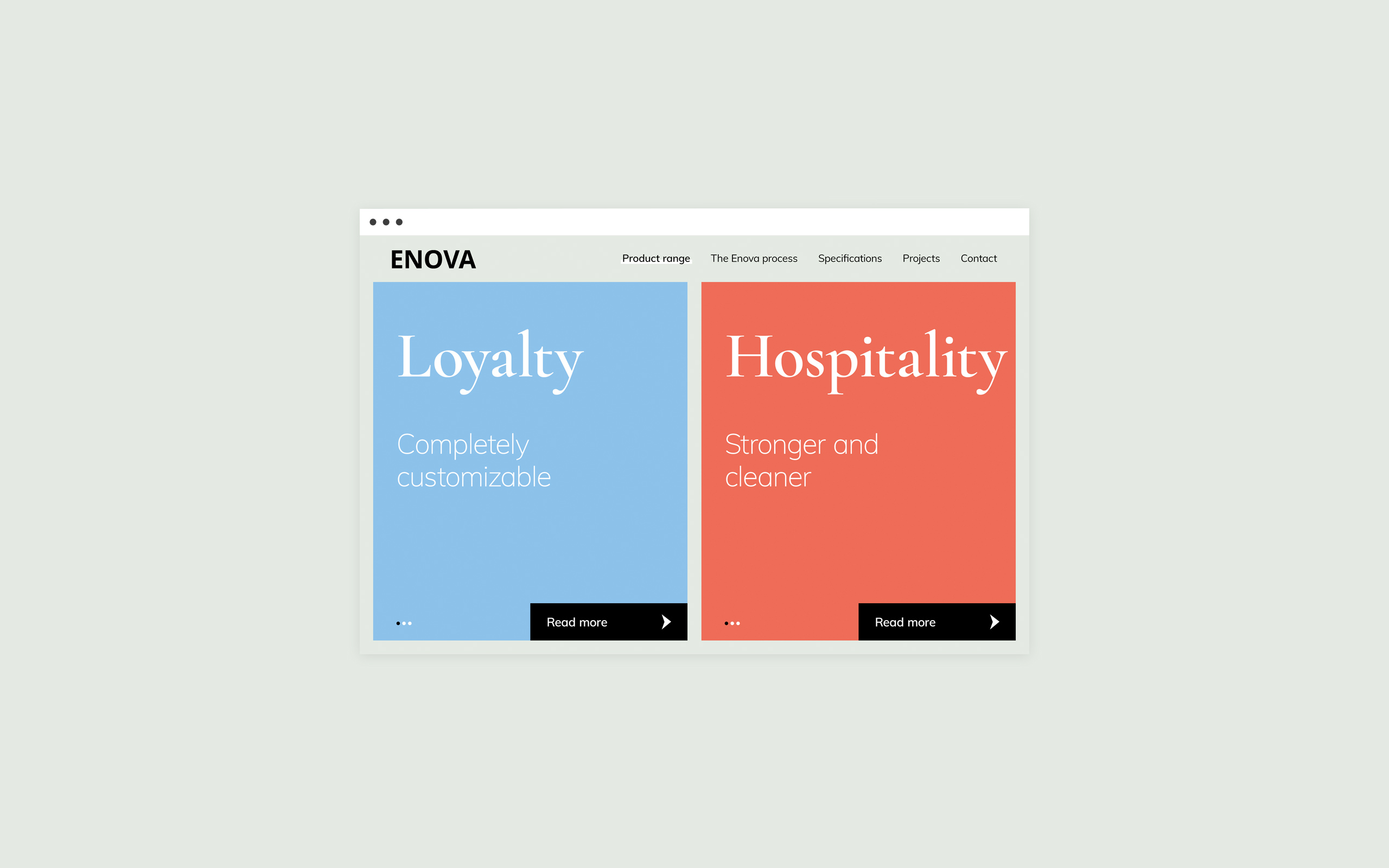 Website for Enova Textiles