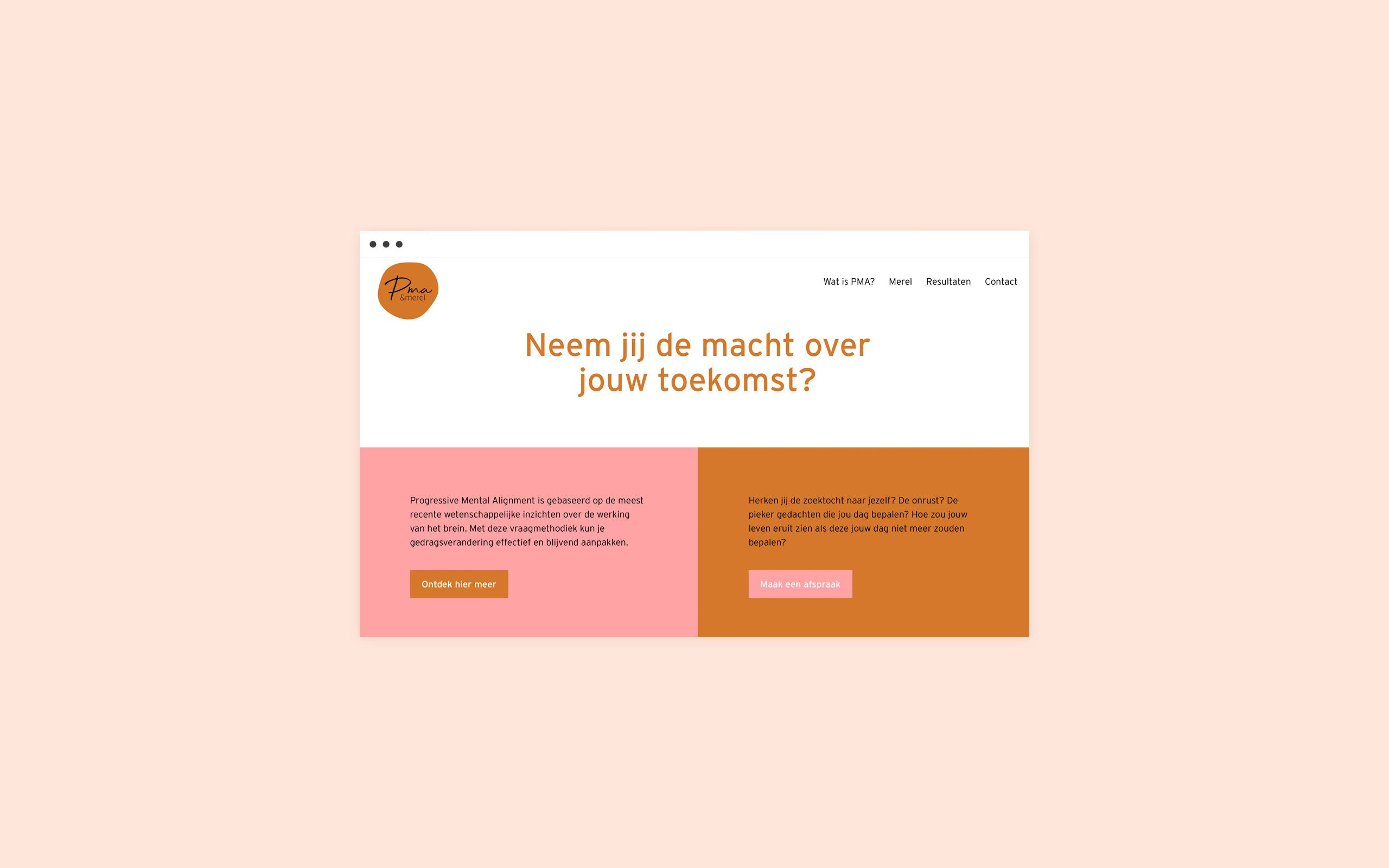 Homepage Design website for PMA Merel