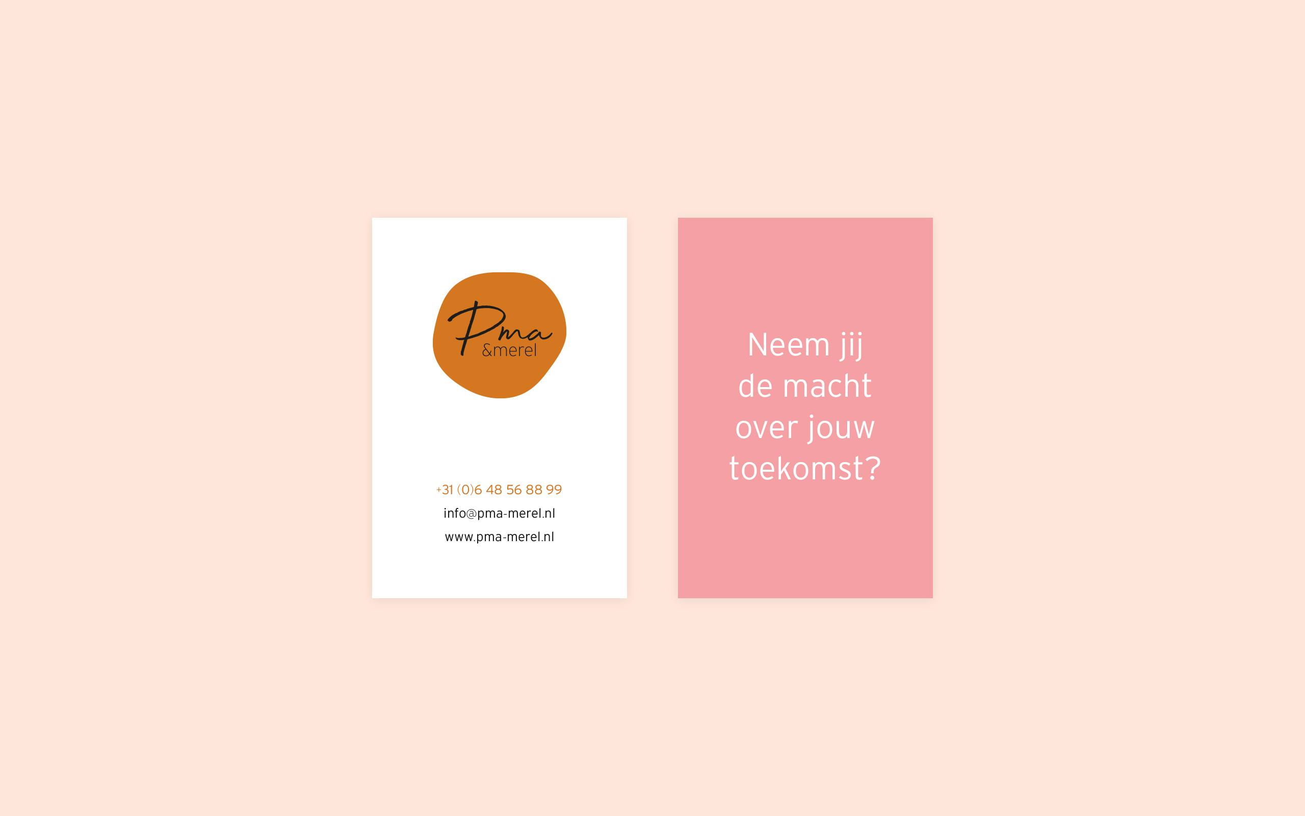 Design Business Cards for PMA Merel