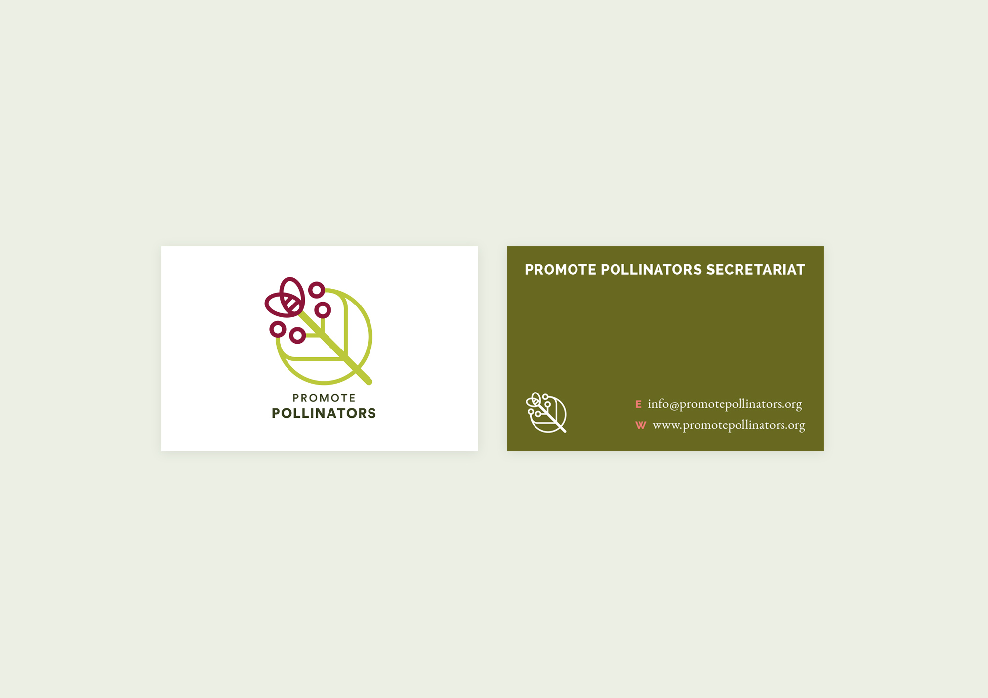 Design Business Cards for Promote Pollinators