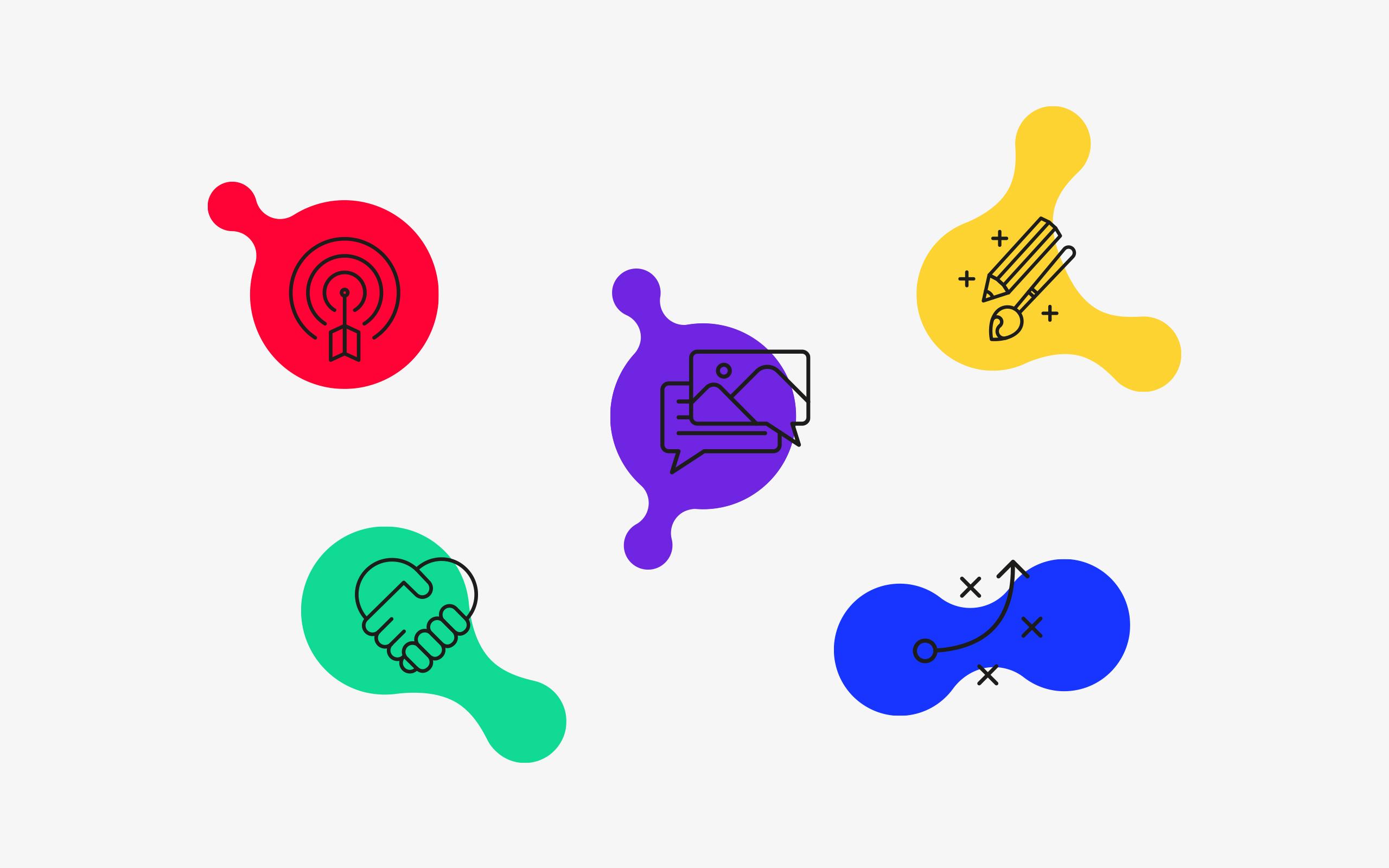 Design icons for Zichtbaarr